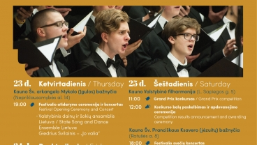 Cantate Domino festival program